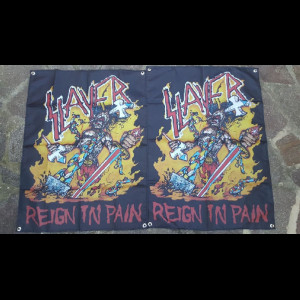 """SLAYER """"Reign in Pain"""" Flag"""